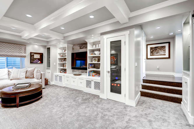Washington Park Basement Remodel Castle Builds Home Remodeling Beauteous Basement Remodeler