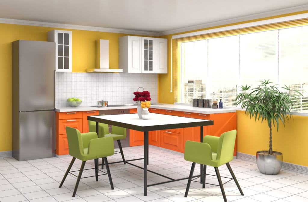 Brightly Colored Kitchens