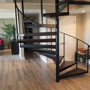 Home Remodel Renovation Spiral Staircase Castle Building Company Colorado